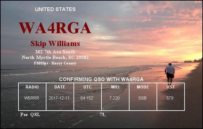 Primary Image for WA4RGA