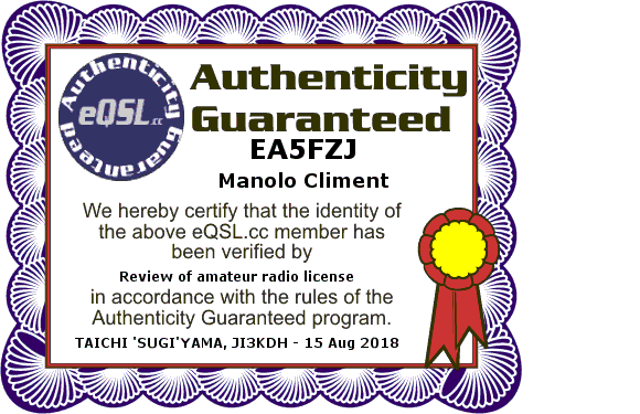 Primary Image for EA5FZJ