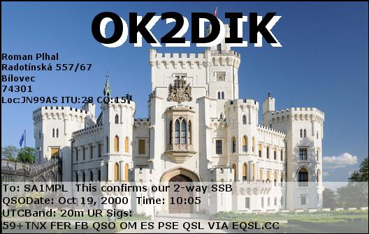 Primary Image for OK2DIK