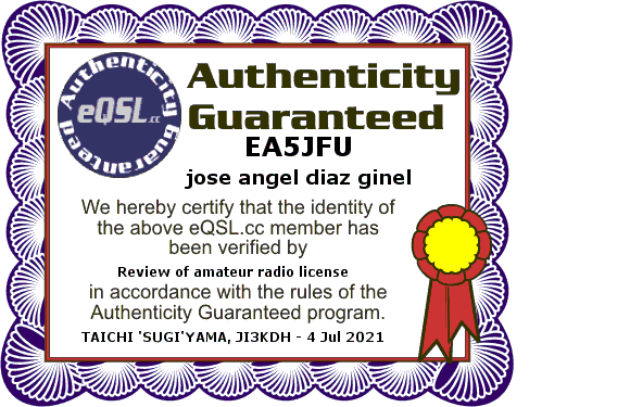 Primary Image for EA5JFU