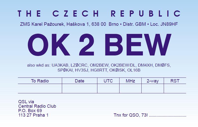 Primary Image for OK2BEW