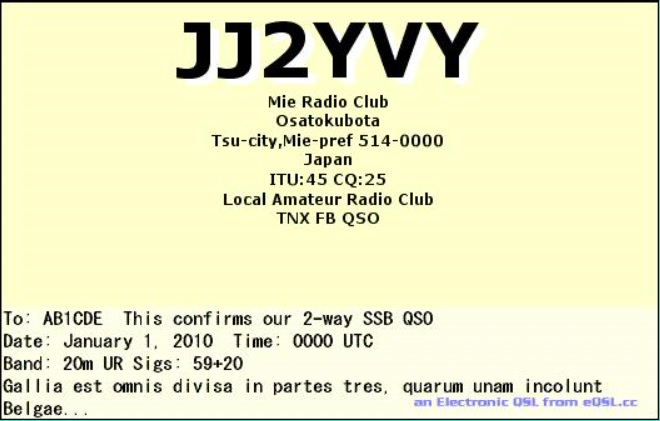 Primary Image for JJ2YVY