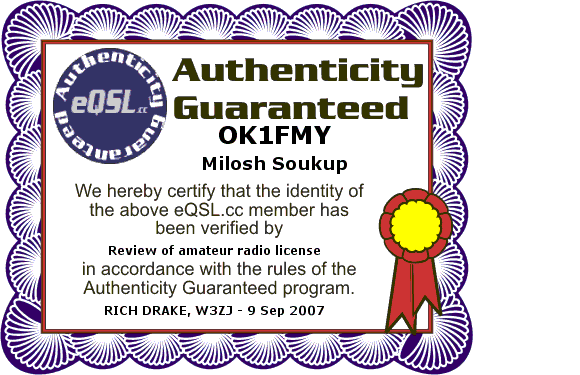 Primary Image for OK1FMY