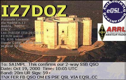 Primary Image for IZ7DOZ